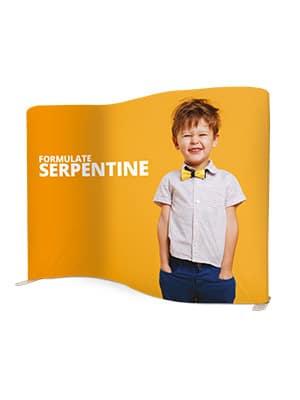 stand tissu serpentine